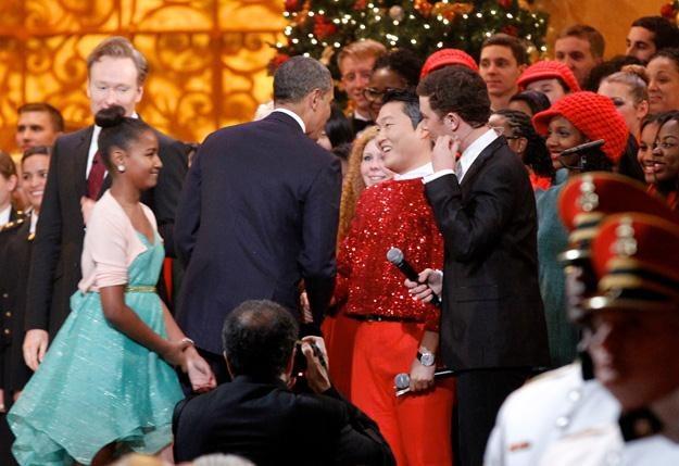 Barack Obama wita koreańskiego gwiazdora w Białym Domu - fot. Pool /Getty Images/Flash Press Media