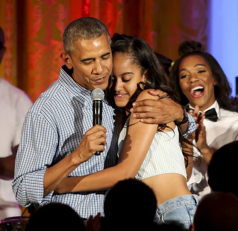 Barack Obama z córką Malią /Aude Guerrucci-Pool /Getty Images