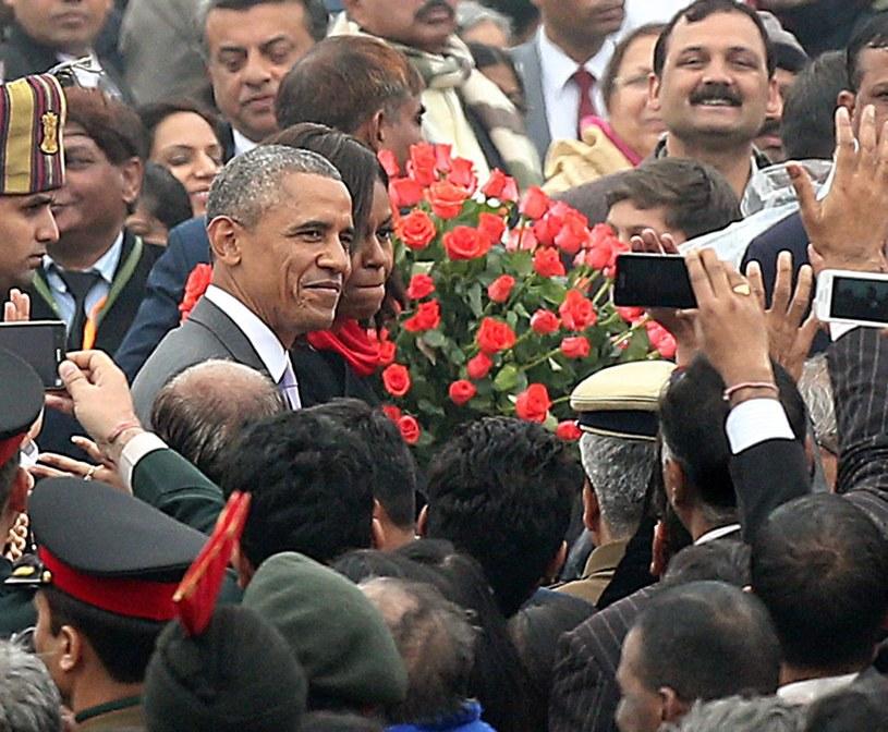 Barack Obama z żoną Michelle oglądał w stolicy Indii paradę z okazji Dnia Republiki /AFP