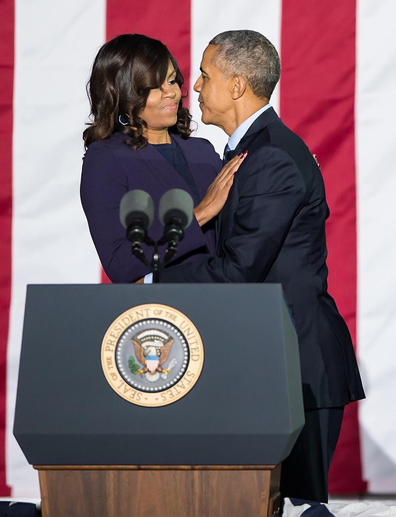 Barack Obama z żoną Michelle /Gilbert Carrasquillo /Getty Images