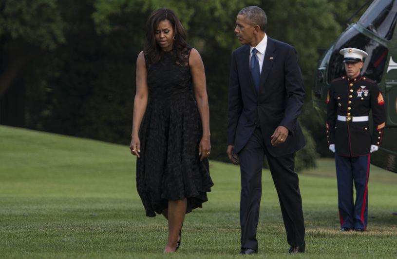 Barack Obama z żoną Michelle /Leigh Vogel /Getty Images