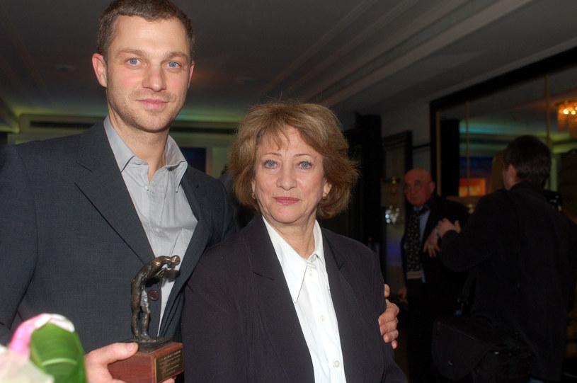 Barbara Borys-Damięcka z synem Grzegorzem /Marek Ulatowski /MWMedia
