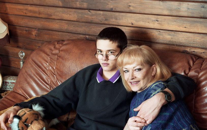 Barbara Brylska z synem Ludwikiem w 1997 roku /Marek Szymański /Agencja FORUM