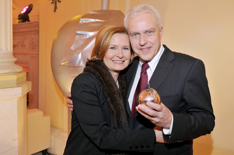 Barbara Bursztynowicz tworzy zgodne małżeństwo z Jackiem Bursztynowiczem, z którym ma córkę Małgorzatę /AKPA
