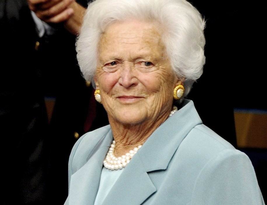 Barbara Bush na zdj. z 2008 roku /LARRY W. SMITH /PAP/EPA