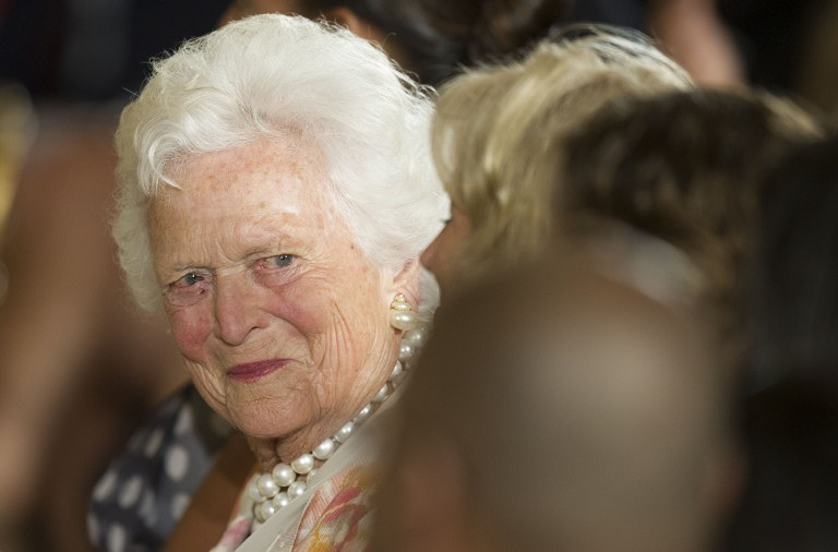 Barbara Bush /AFP