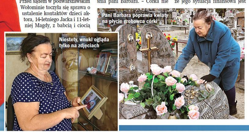 Barbara Gotowiecka na grobie córki /Życie na gorąco
