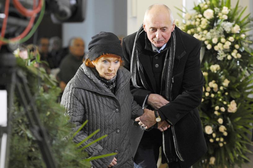 Barbara Krafftówna na pogrzebie Wojciecha Pokory /AKPA