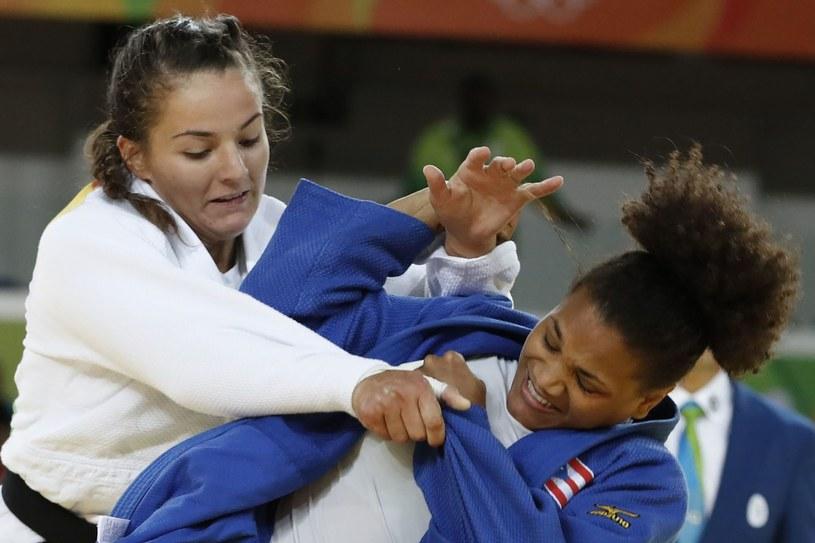 Barbara Matić (z lewej) w walce z Marią Perez podczas igrzysk w Rio /JACK GUEZ /AFP