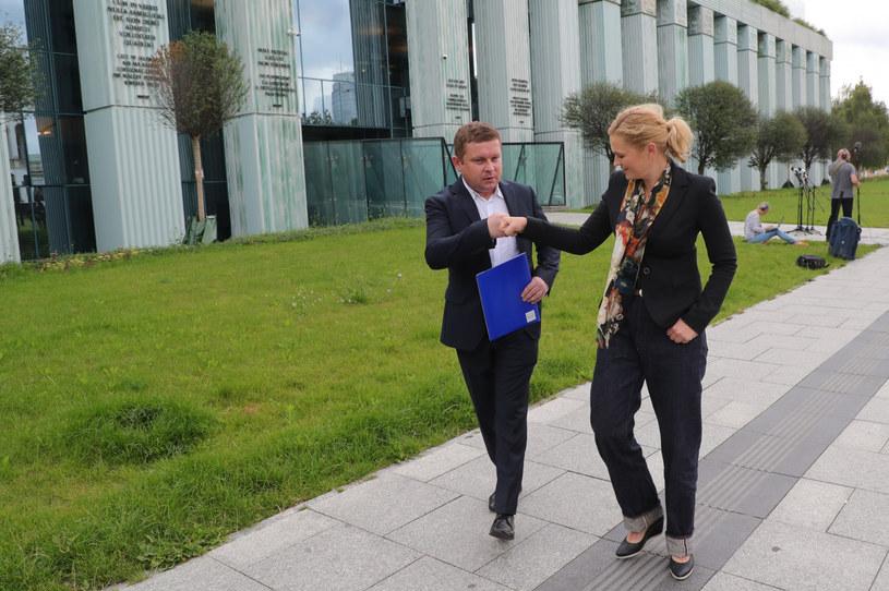 Barbara Nowacka i Grzegorz Wójtowicz złożyli protest wyborczy /Piotr Molecki /East News