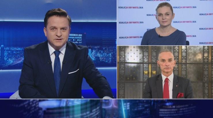 """Barbara Nowacka i Jan Maria Jackowski w """"Gościu Wydarzeń"""" /Polsat News"""