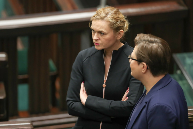 Barbara Nowacka i Katarzyna Lubnauer /Andrzej Iwanczuk /Reporter /East News