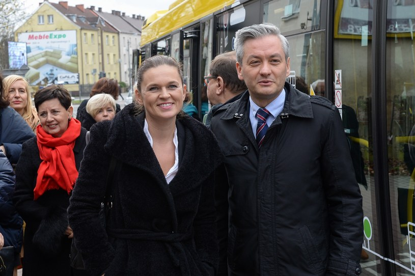 Barbara Nowacka i Rober Biedroń /Gerard /Reporter