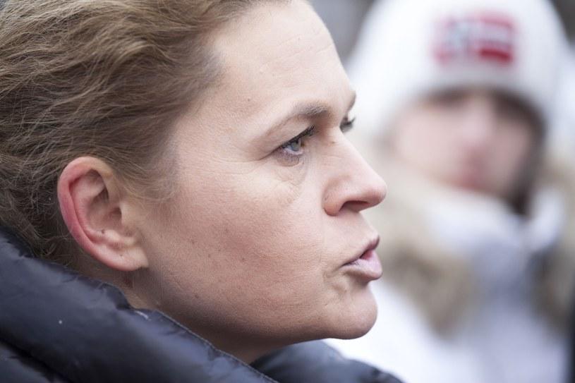 Barbara Nowacka na konferencji prasowej /Maciej Luczniewski/REPORTER /Reporter
