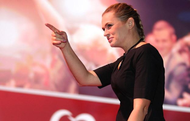Barbara Nowacka podczas konwencji /PAP/Andrzej Grygiel    /PAP