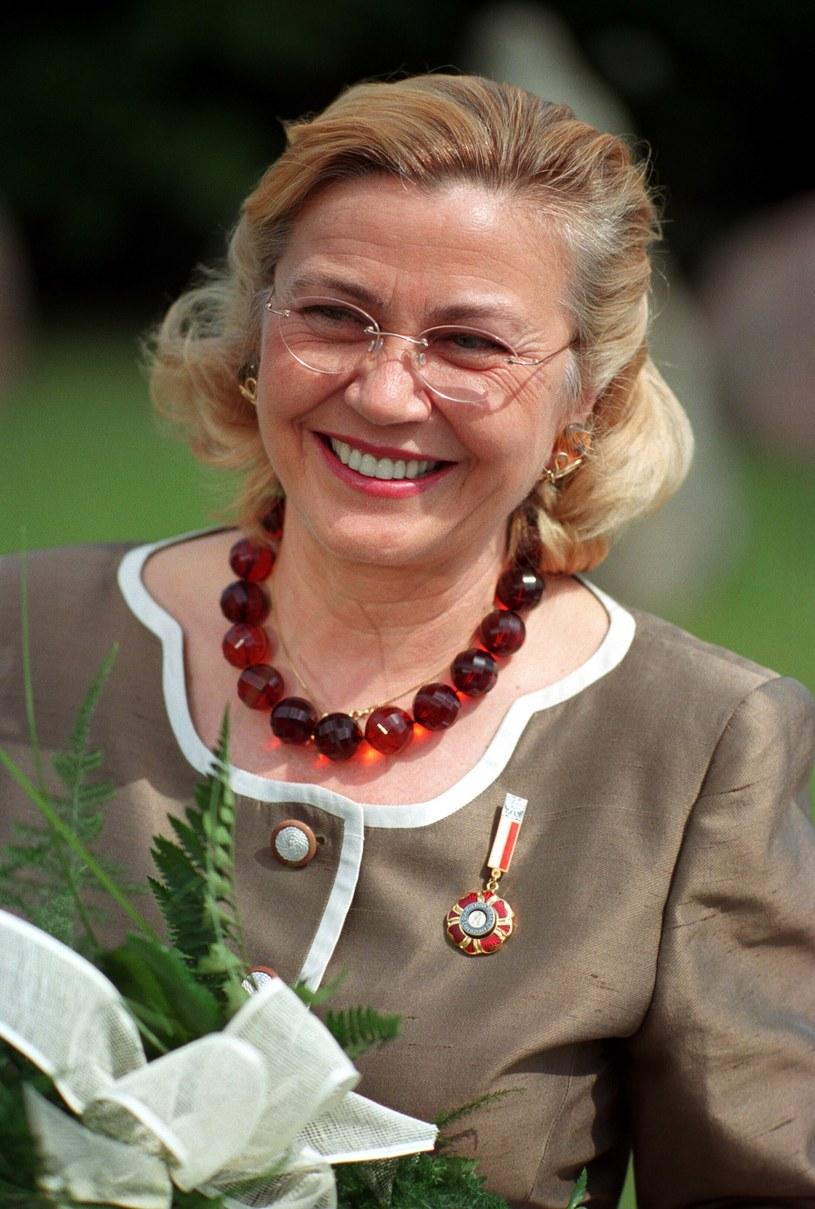 Barbara Piasecka-Johnson w roku 2002 /Radoslaw Nawrocki /Agencja FORUM