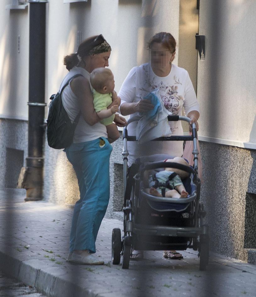 Barbara Sienkiewicz z bliźniakami /Foto IP