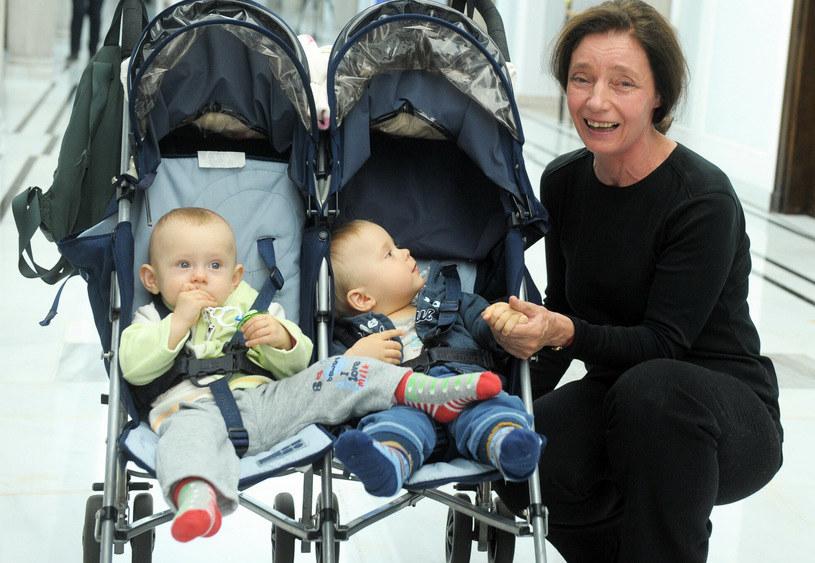 Barbara Sienkiewicz z dziećmi /Jan Bielecki /East News