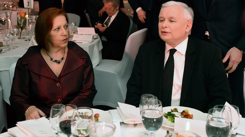 Barbara Skrzypek i Jarosław Kaczyński /Adam Chełstowski /Agencja FORUM