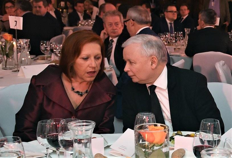 Barbara Skrzypek i prezes PiS Jarosław Kaczyński /Forum Wprost /Agencja FORUM