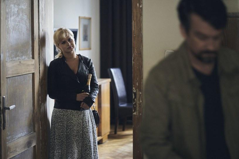 """Barbara Wypych na planie drugiego sezonu serialu """"Znaki"""" /Wojciech Nekanda Trepka  /materiały prasowe"""