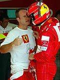 Barrichello i Schumacher /poboczem.pl