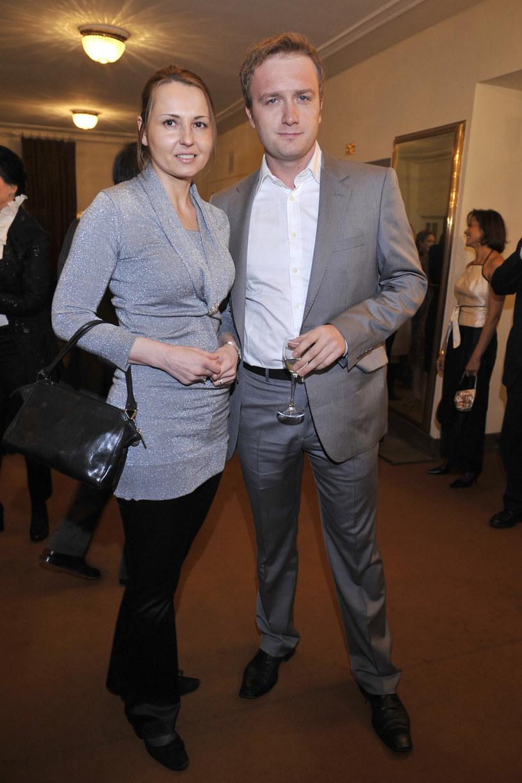 Bartek Kasprzykowski z pierwszą żoną, 2008 rok /Kurnikowski /AKPA