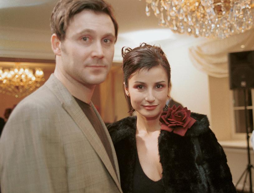 Bartek Świderski i Joanna Brodzik w 2001 roku. Para była nierozłączna /Prończyk /AKPA