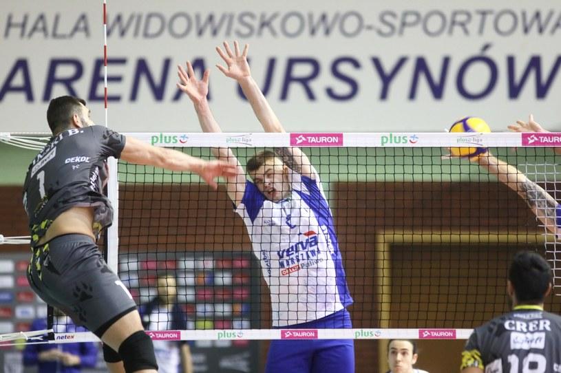 Bartłomiej Lipiński w meczu z Vervą Warszawa / Leszek Szymański    /PAP