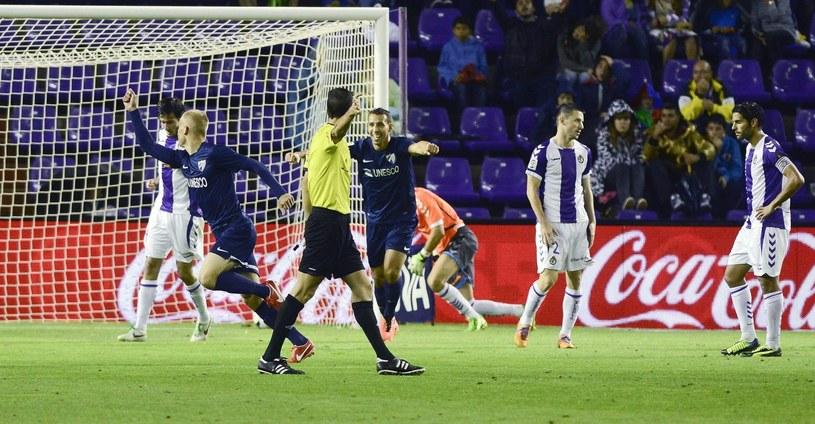 Bartłomiej Pawłowski świętuje gola dla Malagi /PAP/EPA