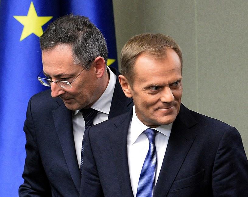 Bartłomiej Sienkiewicz i Donald Tusk /AFP