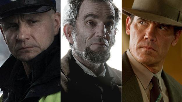 """Bartłomiej Topa w """"Drogówce"""", Daniel Day-Lewis w """"Lincolnie"""" i Josh Brolin w """"Gangster Squad"""" /materiały prasowe"""