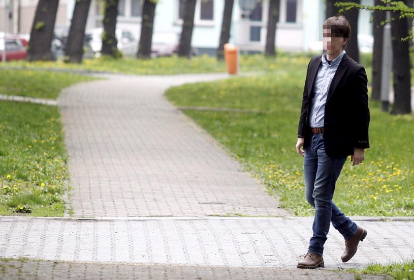 Bartłomiej W. w drodze do sądu /Andrzej Grygiel /PAP