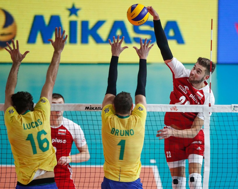 Bartosz Bednorz w meczu z Brazylią w Lidze Narodów /AFP