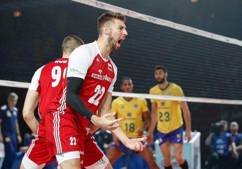 Bartosz Bednorz w meczu z Brazylią /AFP