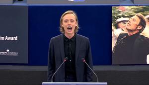 Bartosz Bielenia w europarlamencie. Krzyk dla Białorusi