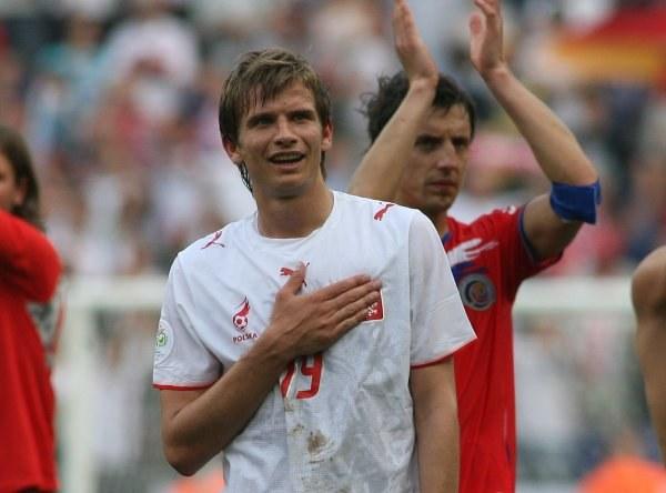 Bartosz Bosacki ma zagrać z Danią. Fot. Marek Biczyk /Agencja Przegląd Sportowy