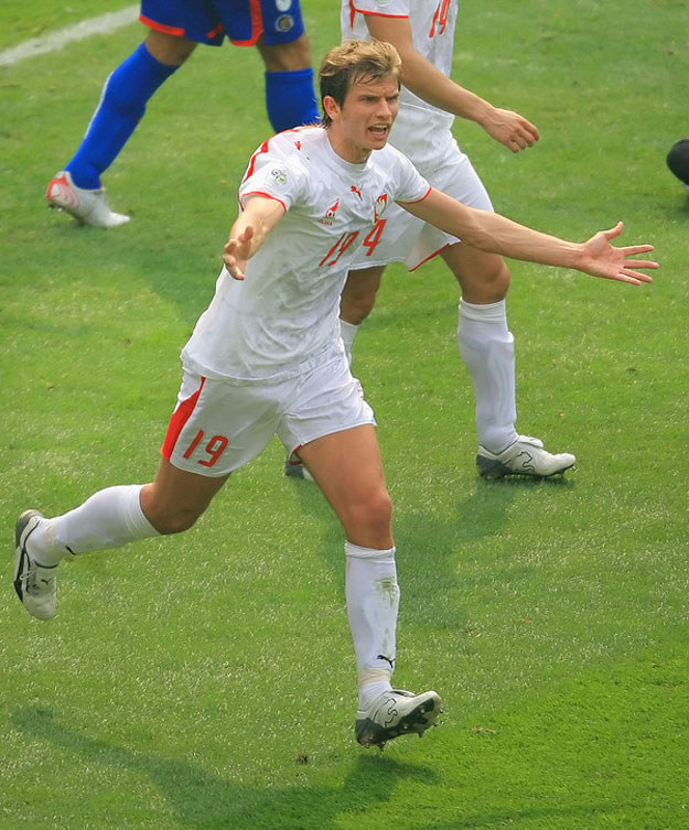 Bartosz Bosacki miał swoje pięć minut na mundialu w Niemczech w 2006 roku /AFP