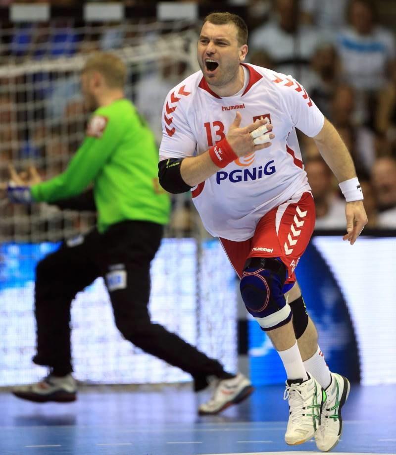 Bartosz Jurecki podczas meczu z Niemcami /PAP/EPA