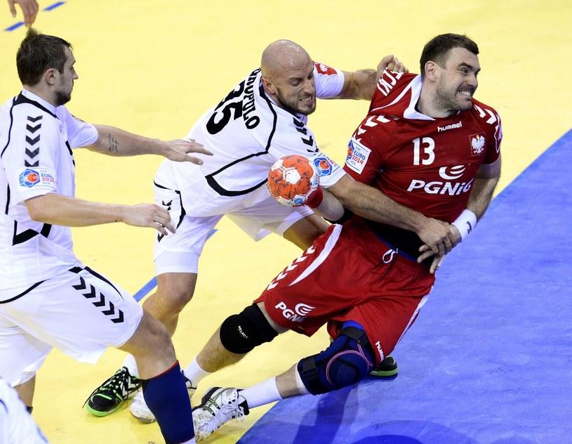 Bartosz Jurecki w akcji podczas styczniowych mistrzostw Europy /AFP