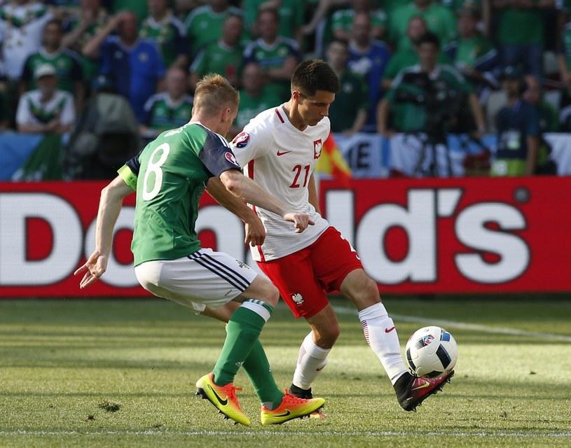 Bartosz Kapustka w meczu z Irlandią Północną /PAP/EPA