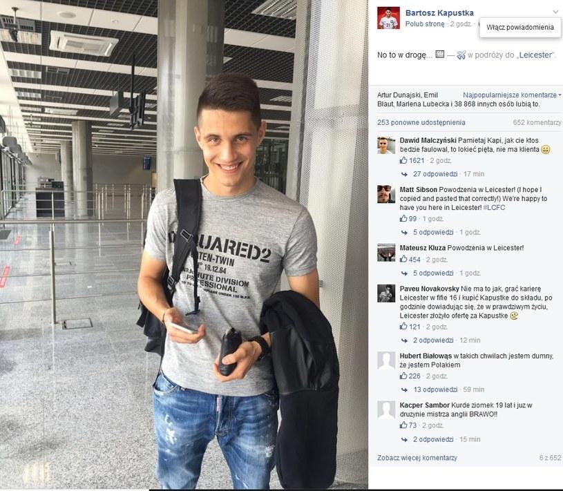 Bartosz Kapustka /Facebook Bartosza Kapustki /Internet