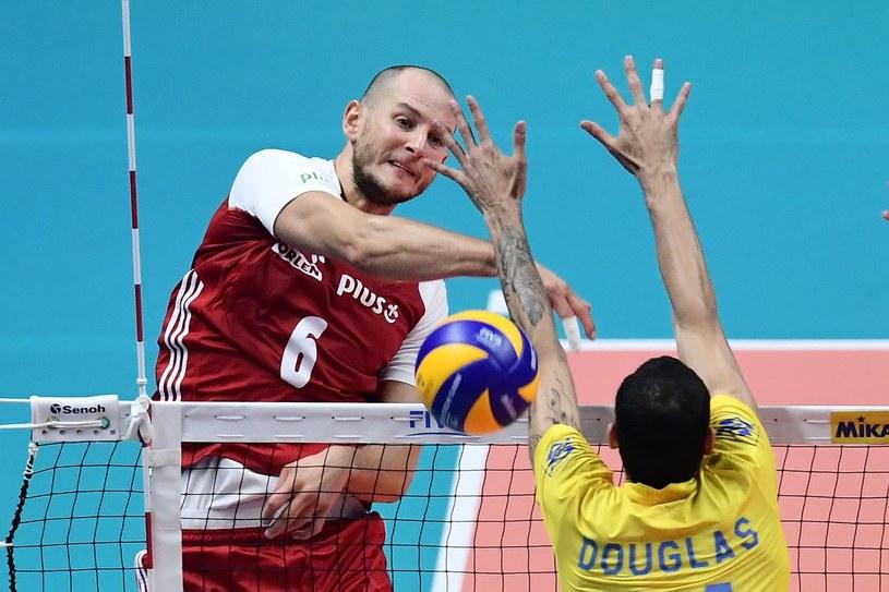 Bartosz Kurek w finałowym meczu MŚ z Brazylią /AFP