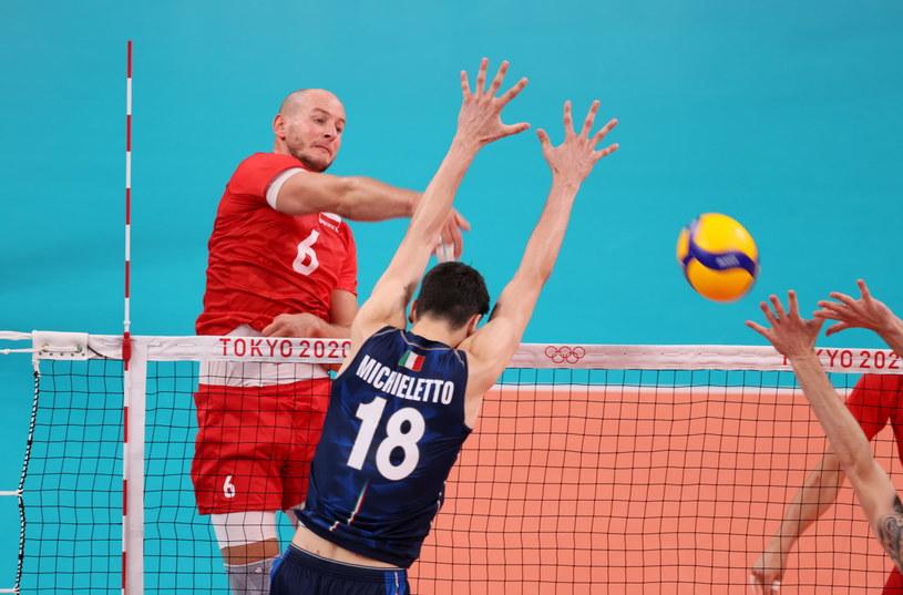 Bartosz Kurek w meczu z Włochami / Leszek Szymański    /PAP