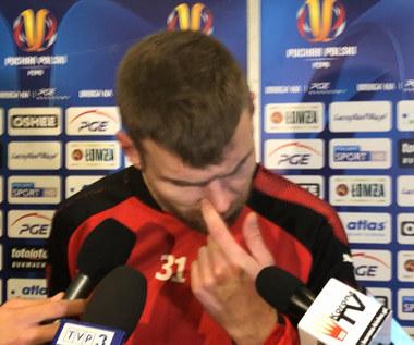 Bartosz Rymaniak komentuje brak awansu Korony do finału Pucharu Polski. Wideo