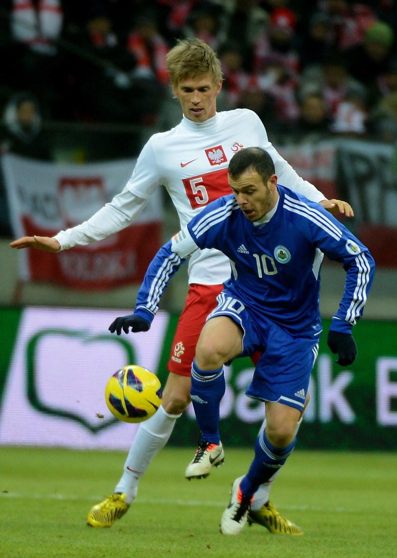 Bartosz Salamon zadebiutował w seniorskiej reprezentacji Polski w meczu z San Marino /Fot. Bartłomiej Zborowski /PAP