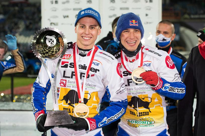 Bartosz Smektała, Piotr Pawlicki na podium DMP 2020 /Marcin Karczewski /Newspix
