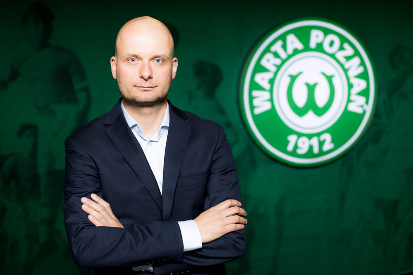 Bartosz Wolny, nowy prezes Warty Poznań (fot. Klaudia Berda / Warta Poznań) /Interia.pl /INTERIA.PL
