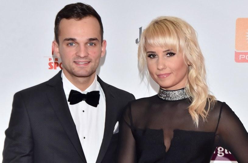 Bartosz Zmarzlik i jego partnerka Sandra Grochowska /Mateusz Jagielski /East News