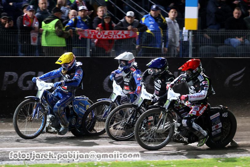 Bartosz Zmarzlik, Leon Madsen, Tai Woffinden, Fredrik Lindgren /Jarosław Pabijan /Flipper Jarosław Pabijan